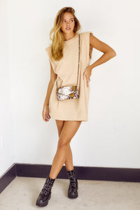 Carreen Shoulder Pad Dress