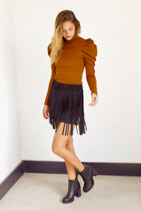 PreOrder Bexar Fringe Detail Mini Skirt