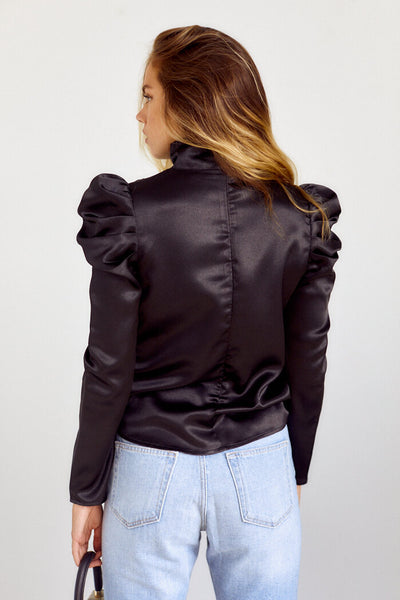 fab'rik - Preorder Chloe Tie Neck Puff Sleeve Blouse image thumbnail