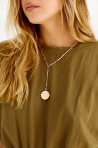 Wyoming Coin Y Necklace