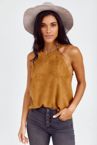 Ashby Cropped Faux Suede Tank