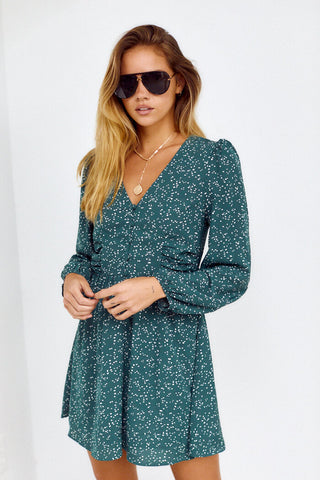 Kampbell Polka Dot Mini Dress