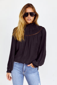 Lorie Pleated Detail Blouse