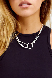 Nevada Carabiner Detail & Chain Necklace