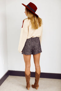 Iggy Herringbone Tweed Shorts
