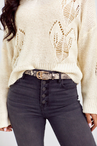Adley Snakeskin Belt
