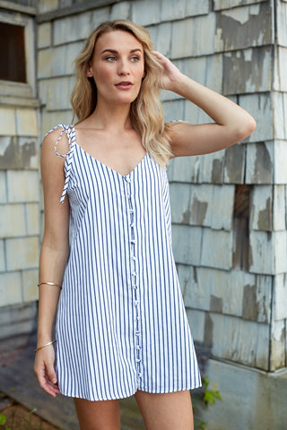 BUDDY LOVE BREAKER STRIPE MINI DRESS