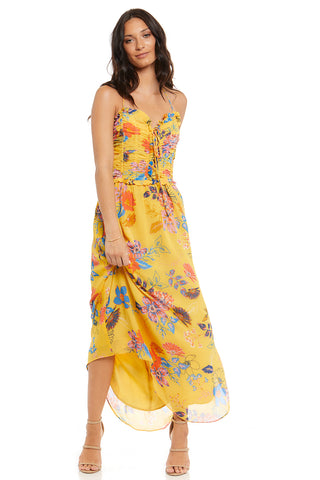 DELILAH FLORAL PRINT HALTER DRESS