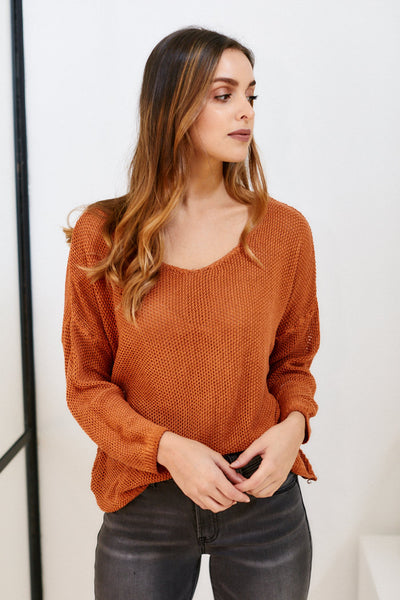 fab'rik - Autumn Open Knit Sweater image thumbnail