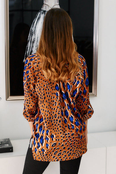 fab'rik - Simone Animal Print Button Down Top image thumbnail