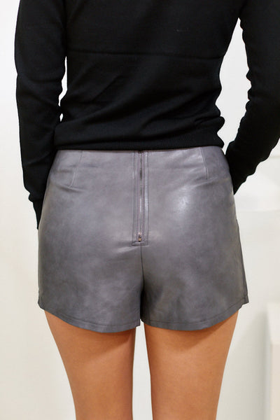 fab'rik - Hadley Faux Leather Skort image thumbnail