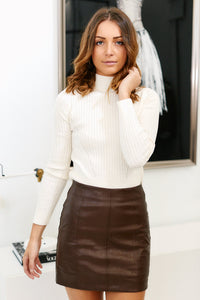 Haven Faux Leather Mini Skirt