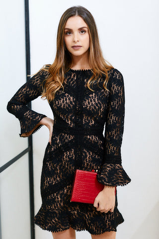 Merrin Lace Mini Dress