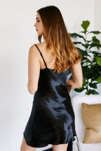 Load image into Gallery viewer, Malibu Cowl Neck Satin Dress