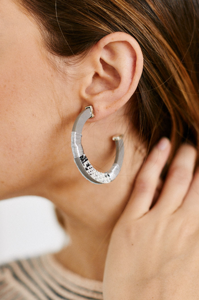 fab'rik - Karen Animal Print Open Hoops ProductImage-13289935798330