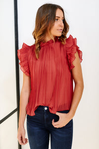 Adette Pleated Blouse