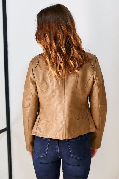 fab'rik - Cammy Faux Leather Zip Jacket image thumbnail