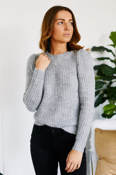 fab'rik - Lucia Puff Shoulder Sweater image thumbnail
