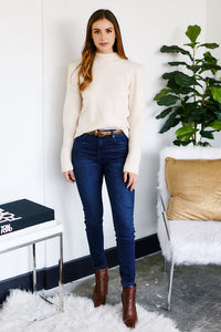 Tali Puff Shoulder Wool Sweater