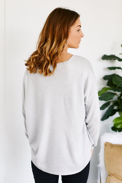 fab'rik - Avalina V-Neck Light Weight Sweater image thumbnail