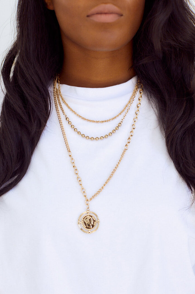 SALE - Verona Coin Layered Necklace