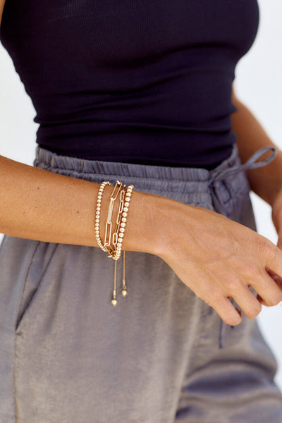 fab'rik - Sicily Beaded and Chain Bracelet Set image thumbnail