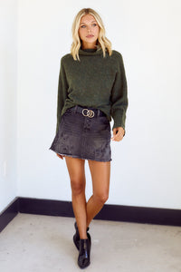 SALE - Cassidy Button Up Mini Skirt