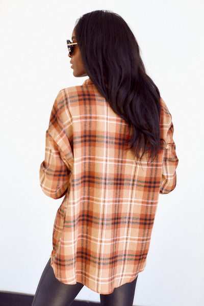 fab'rik - Peoria Plaid Button Down Top image thumbnail