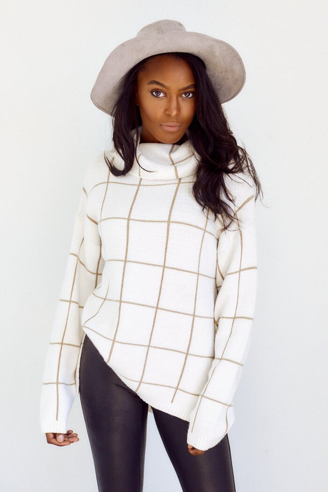 PreOrder Kerri Plaid Turtleneck Sweater