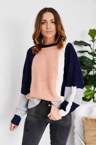 Mila Color Block Sweater