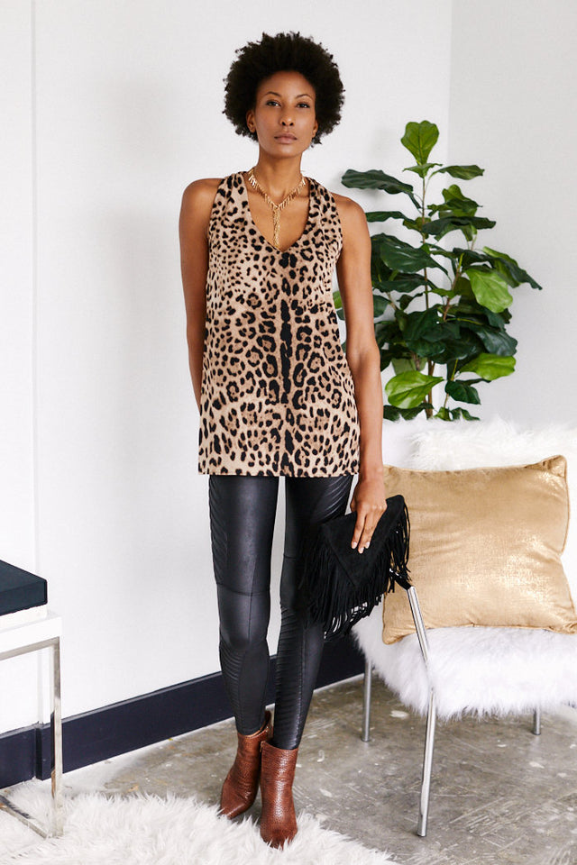 GiGi Animal Print V-Neck Tank