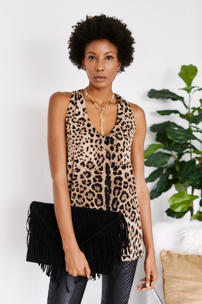 fab'rik - GiGi Animal Print V-Neck Tank ProductImage-13058657222714