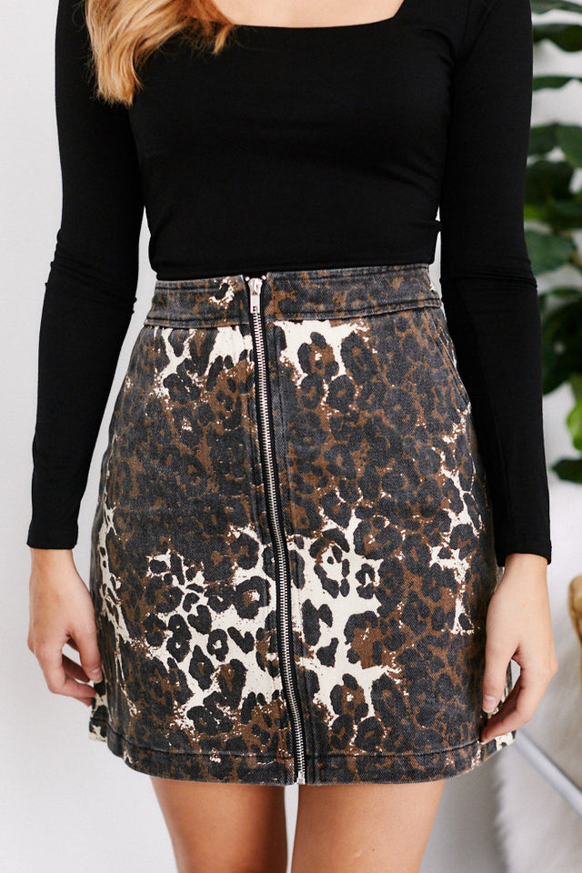 Kaylee Cheetah Skirt