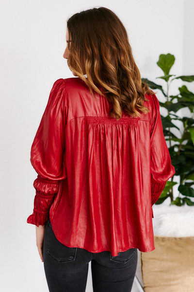 fab'rik - Wella Pleated Detail Long Sleeve Blouse image thumbnail