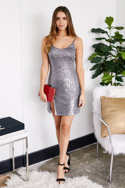 fab'rik - Caressa Sequin Slip Dress image thumbnail