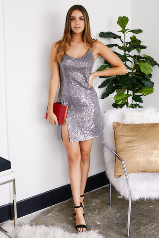 Caressa Sequin Slip Dress