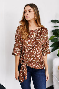 fab'rik - PreOrder Liora Satin Printed Top ProductImage-13292172673082