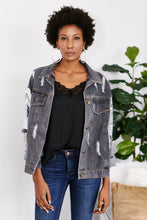 Load image into Gallery viewer, Teddi Denim Jacket with Sequin Details