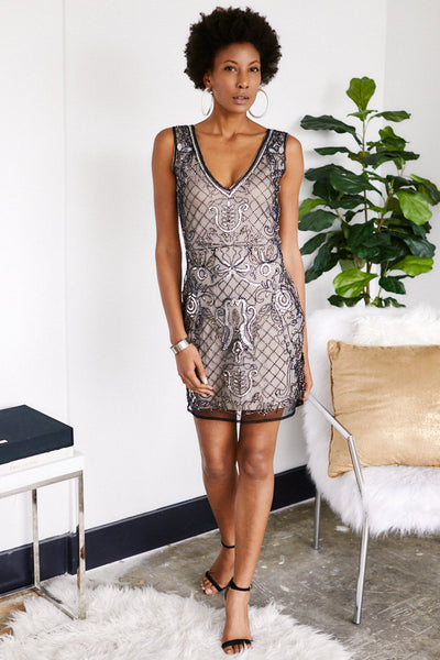 fab'rik - Brigitte Beaded Cocktail Dress image thumbnail