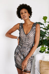 Brigitte Beaded Cocktail Dress