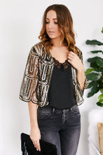 Load image into Gallery viewer, Lucille Sequin Crop Cardigan