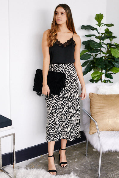 fab'rik - Bella Animal Print Skirt image thumbnail