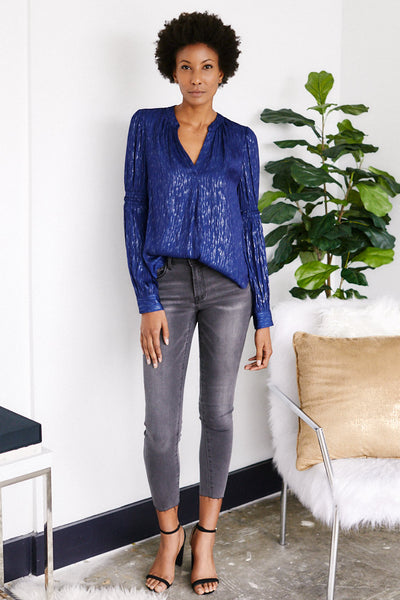 fab'rik - Grace V-Neck Long Sleeve Blouse image thumbnail