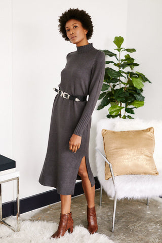 Silvia Mock Neck Sweater Dress