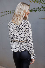 Load image into Gallery viewer, Romy Tie Front Cheetah Print Blouse