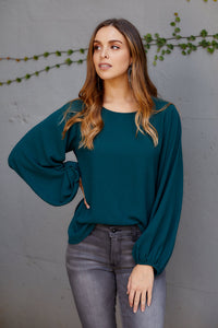 Lila Balloon Sleeve Blouse