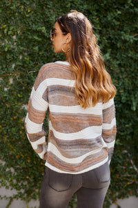 Adara Wave Print Sweater
