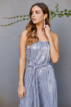Load image into Gallery viewer, Pleated Metallic Sleeveless Jumpsuit