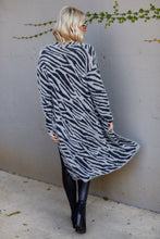 Load image into Gallery viewer, Whit Animal Print Fuzzy Cardigan