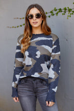 Load image into Gallery viewer, Lille Camo Fringe Sweater